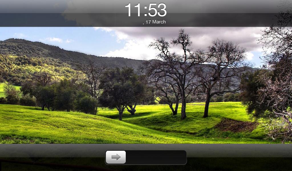 Slide to Unlock BlackBerry PlayBook