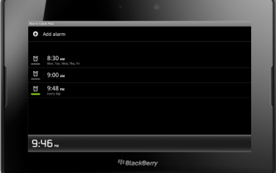 Alarm Clock Plus v2.4.3 for BlackBerry PlayBook