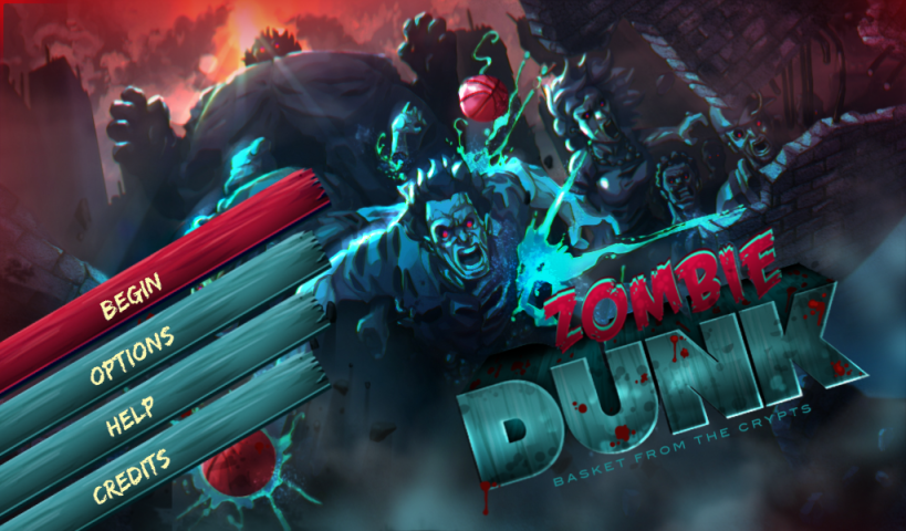Zombie Dunk Game for the BlackBerry PlayBook