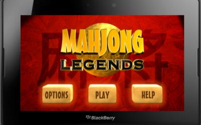 Mahjong Legends Game for BlackBerry PlayBook