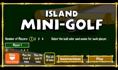 Island Mini Golf Game BlackBerry Playbook