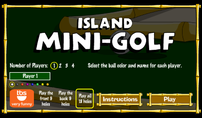 Island Mini Golf Game BlackBerry Playbook