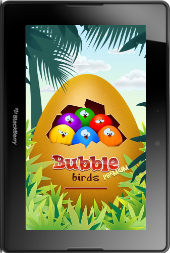 Bubble Birds Premium Game for the PlayBook