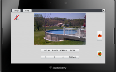 Camera Timer App for the BlackBerry PlayBook