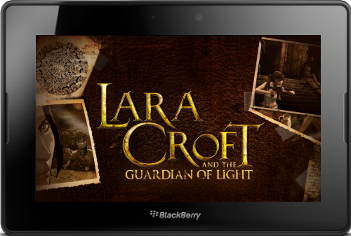 Lara Croft And The Guardian Of The Light BlackBerry PlayBook