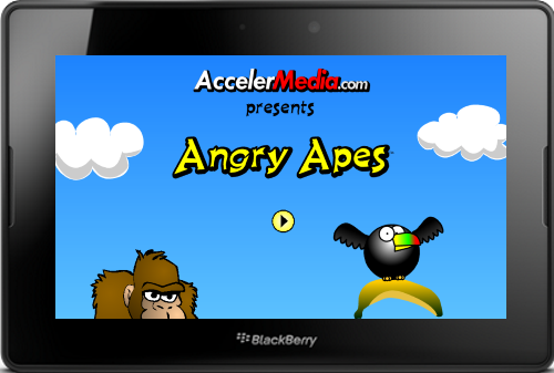 PlayBook Game Angry Apes