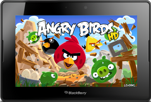 Angry Birds HD v2.1 for BlackBerry PlayBook