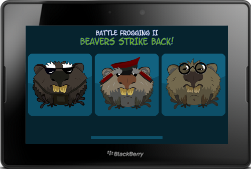Battle Frogging II for the BlackBerry PlayBook