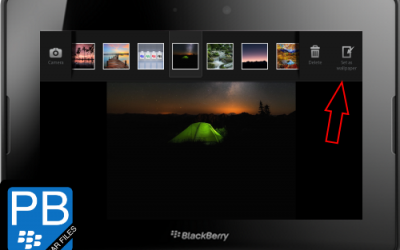 Add and Activate New Wallpapers on your PlayBook