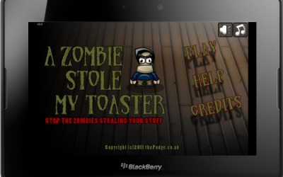 A Zombie Stole my Toaster Game for BlackBerry PlayBook
