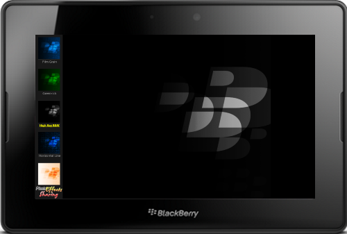 Photo Effects App for BlackBerry PlayBook