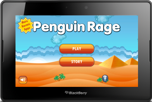 Penguin Rage Game for the BlackBerry PlayBook