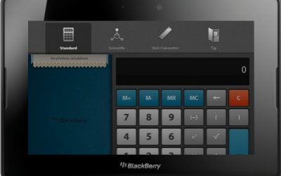 PlayBook Calculator is more than just a Calculator