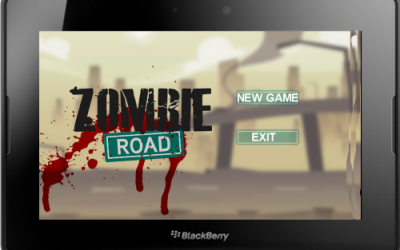Zombie Road Game for BlackBerry PlayBook